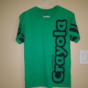Crayola Green Shamrock Tee Shirt